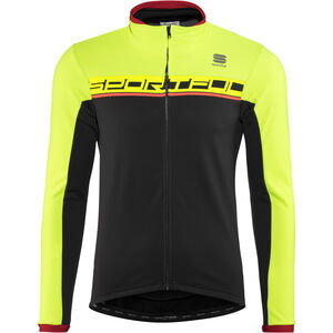 Sportful Giro Softshell Jacket Men black/yellow fluo/red