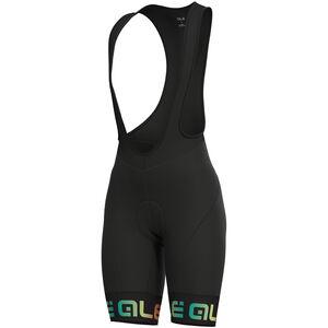 Alé Cycling Solid Mirror Bib Shorts Damen black-multicolor black-multicolor