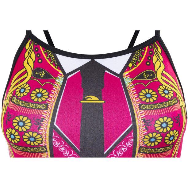 Turbo Torera Thin Strap Swimsuit Damen black