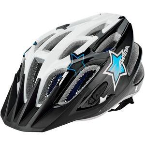 Alpina FB 2.0 Flash Helmet Jugend black-white-blue black-white-blue
