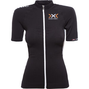 X-Bionic The Trick Fahrrad Trikot SS Full-Zip Damen black/white black/white