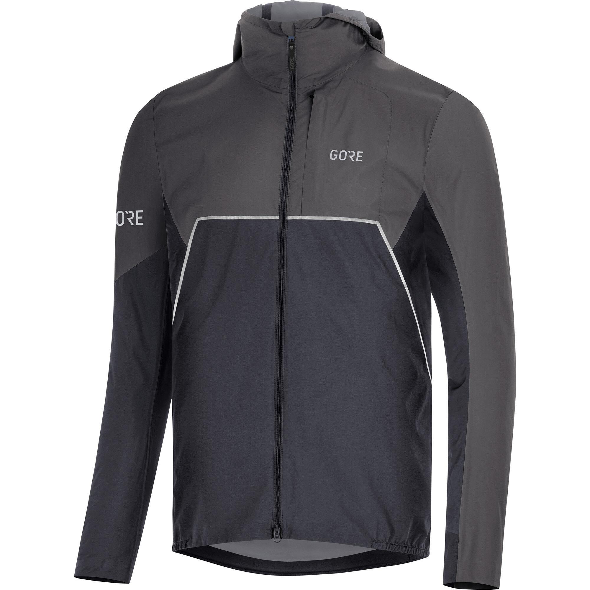 GORE WEAR R7 Partial Gore Tex Infinium Hooded Jacket Herren blackterra grey