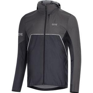 GORE WEAR R7 Partial Gore-Tex Infinium Hooded Jacket Herren black/terra grey black/terra grey