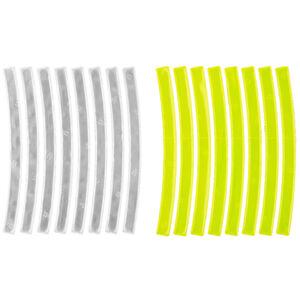 M-Wave Stripes Reflexaufkleber 3M gelb/weiß bei fahrrad.de Online