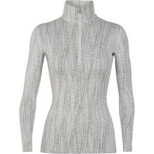 Icebreaker 250 Vertex LS Half Zip Shirt Women snow-black