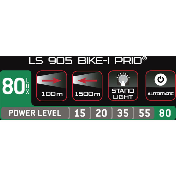 Trelock LS 905 BIKE-i Prio Dynamofrontlicht schwarz/schwarz