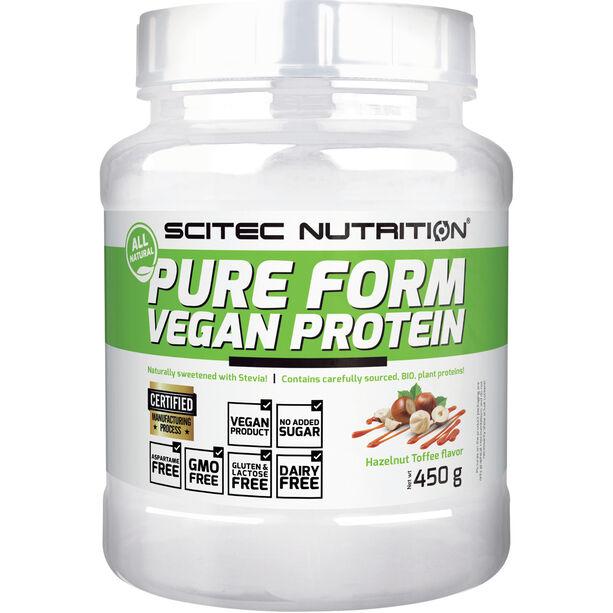 SCITEC Pure Form Vegan Protein Pulver 450g Hazelnut-Toffee