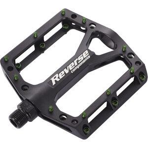 Reverse Black One Pedals schwarz/dunkelgrün