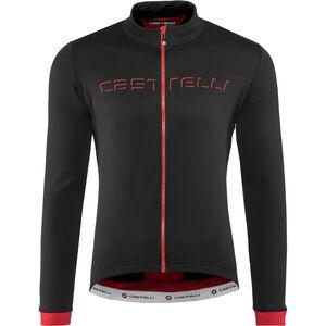 Castelli Fondo Full-Zip Jersey Herren black/red black/red