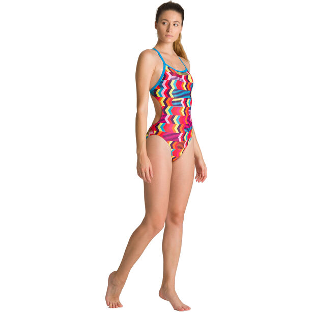arena Geocentric Challenge Back One Piece Badeanzug Damen turquoise/multi
