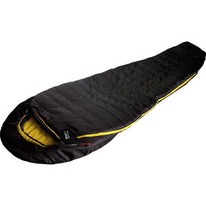 High Peak Pak 1000 Schlafsack  links schwarz/curry