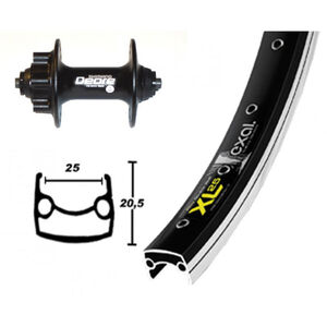 Exal XL 25 DISK Vorderrad 26x1.9 Deore Disc schwarz bei fahrrad.de Online