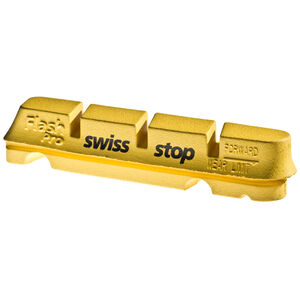 SwissStop FlashPro Bremsbeläge für Shimano/SRAM Carbon gelb gelb
