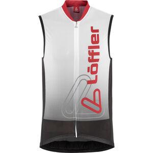 Löffler Racing Bike Tanktop Full-Zip Herren weiß/rot