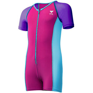 TYR Solid Thermal Suit Girls purple/pink/blue