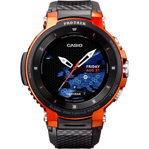 CASIO PRO TREK SMART WSD-F30-RGBAE Smartwatch Herren black/orange/grey black/orange/grey