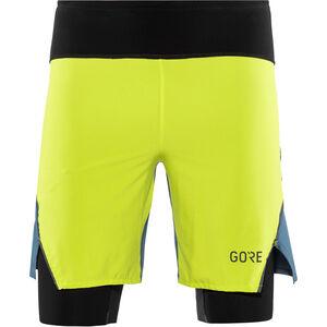 GORE WEAR R7 2in1 Shorts Herren citrus green/deep water blue citrus green/deep water blue