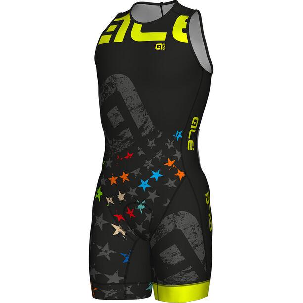 Alé Cycling Olympic Triathlon Stelle SS Skinsuit Herren black-fluo yellow