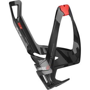 Elite Cannibal XC Flaschenhalter schwarz glänzend/rote grafik schwarz glänzend/rote grafik