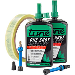 Tune One Shot Tubeless Kit Road 60ml inkl. 20mm Felgenband Blau