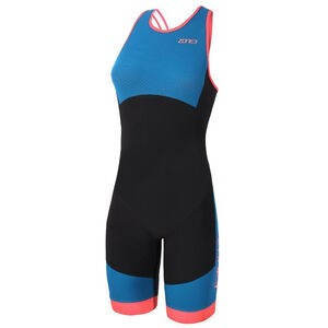 Zone3 Aeroforce Swimback Style ITU Design Trisuit Damen black/teal/coral black/teal/coral
