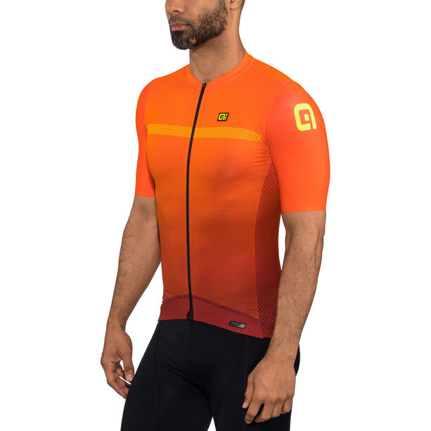 Alé Cycling PRS Fade SS Jersey Herren bordeaux-flou orange