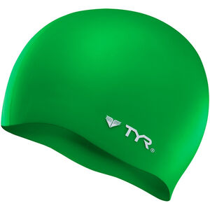 TYR Silicone Cap No Wrinkle green green