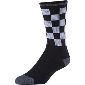 Troy Lee Designs Checker Crew Socks black black