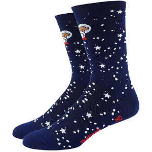 "DeFeet Aireator 6"" Socks Doggo (Navy w/Dog in Spacesuit)"