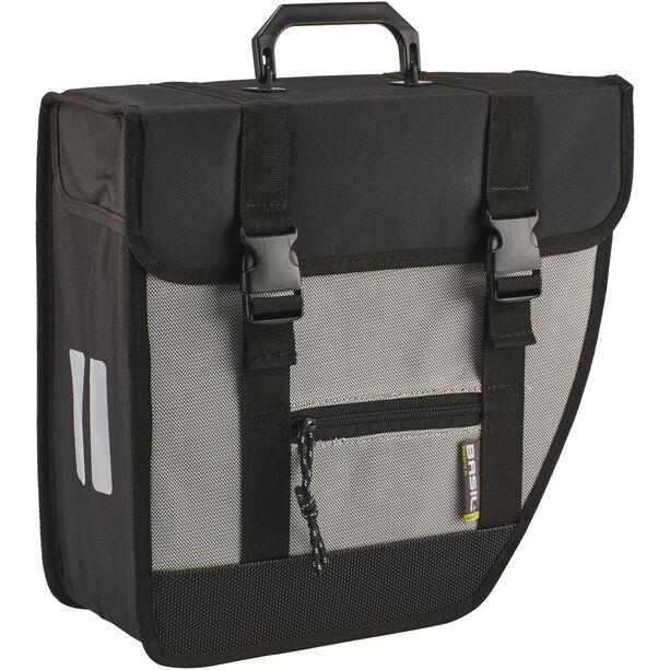 Basil Tour Single Side Bag 17l, right schwarz/silber