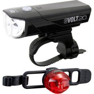 CatEye GVOLT20RC HL-EL350GRC + LOOP2G SL-LD140GRC Beleuchtungs Set schwarz schwarz