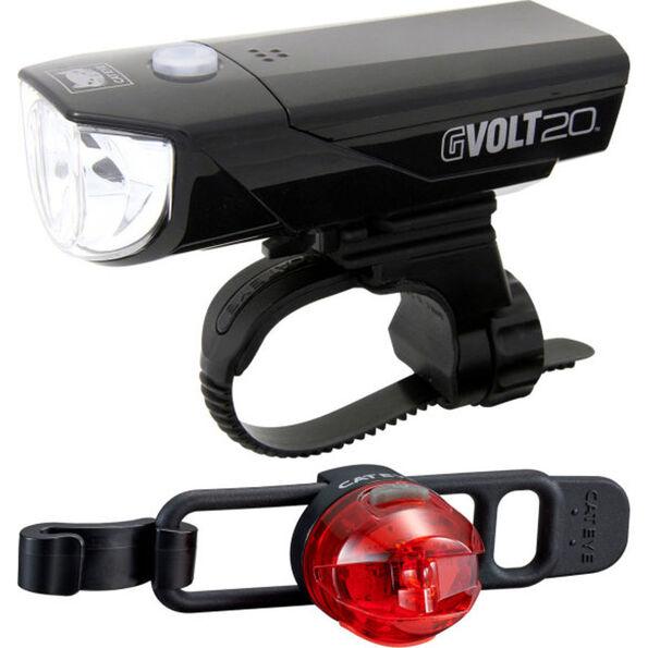 CatEye GVOLT20RC HL-EL350GRC + LOOP2G SL-LD140GRC Beleuchtungs Set