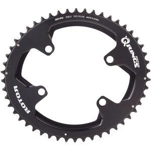 Rotor Aldhu Kettenblatt 110x4 außen oval schwarz/matt/glänzend schwarz/matt/glänzend