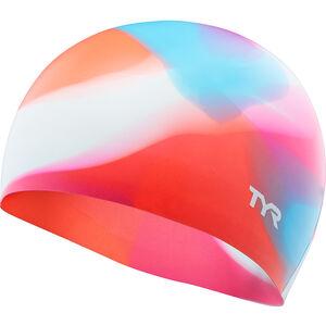 TYR Tie Dye Silicone Swim Cap Kinder pink/blue pink/blue
