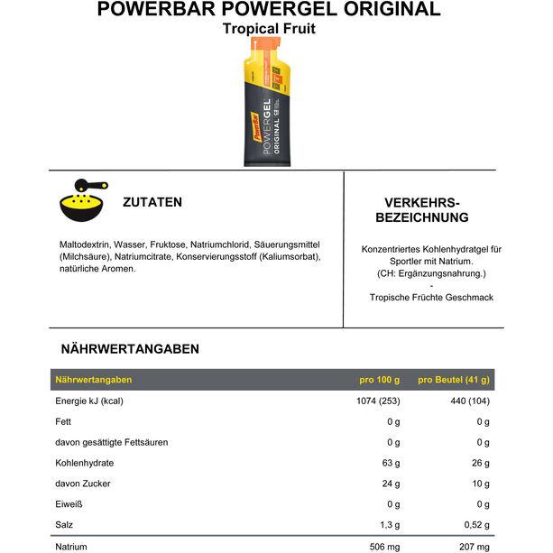 PowerBar PowerGel Original Box 24x41g Tropenfrüchte