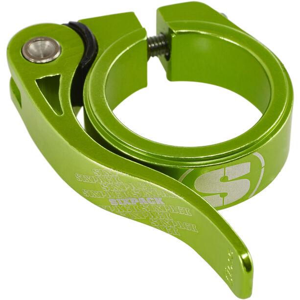 Sixpack Menace Sattelklemme Ø34,9mm electric-green