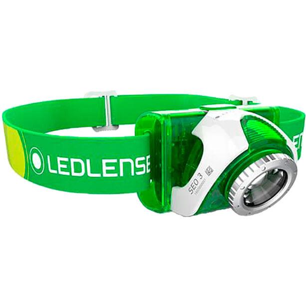 Led Lenser SEO 3 Stirnlampe green