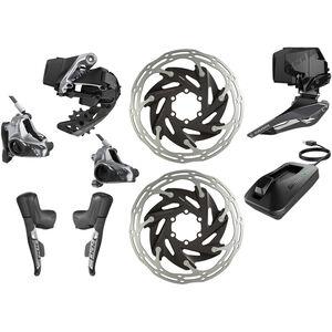 SRAM RED eTap AXS HRD D1 HRD Kit 2x12-fach Flatmount schwarz schwarz