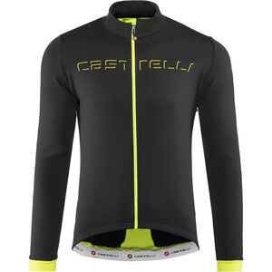 Castelli Fondo Full-Zip Jersey Herren light black/yellow fluo light black/yellow fluo