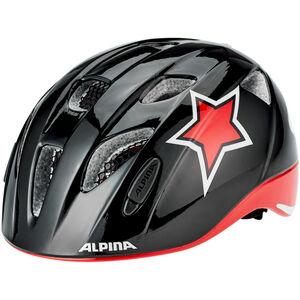Alpina Ximo Flash Helmet Kinder black-red-white star black-red-white star