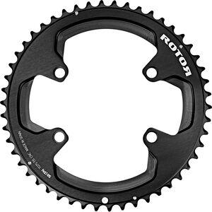 Rotor Aldhu Kettenblatt 110x4 außen rund schwarz/matt/glänzend schwarz/matt/glänzend