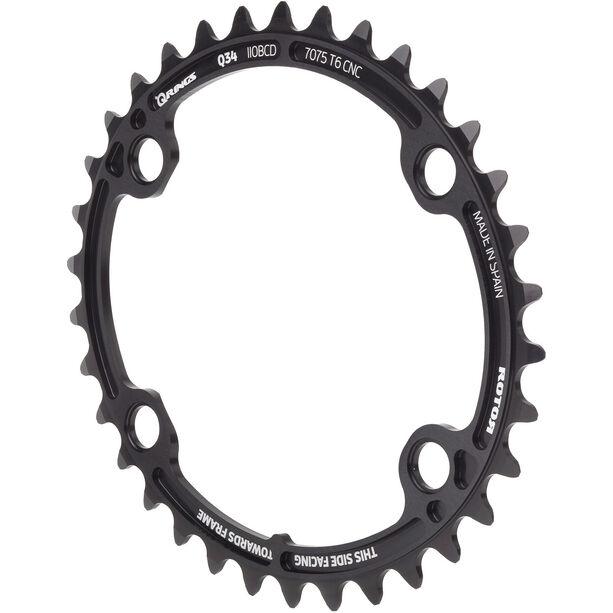 Rotor Ovales Kettenblatt für ALDHU/Shimano black