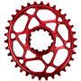 absoluteBLACK Ovales Kettenblatt für SRAM XX1 Spiderless red