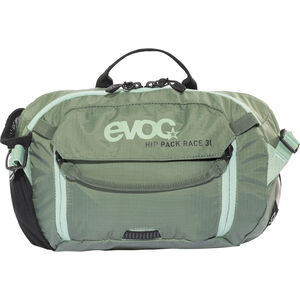 EVOC Hip Pack Race Backpack 3 L + Hydration Bladder 1,5 L olive-light petrol olive-light petrol