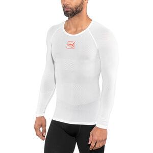 Compressport 3D Thermo UltraLight LS Shirt Unisex White bei fahrrad.de Online