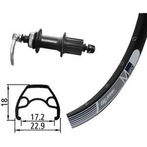 Rodi M460 Hinterrad Hinterrad, 26x1.9, 32L, Disc, mit Alivio 435 Centerlock schwarz schwarz
