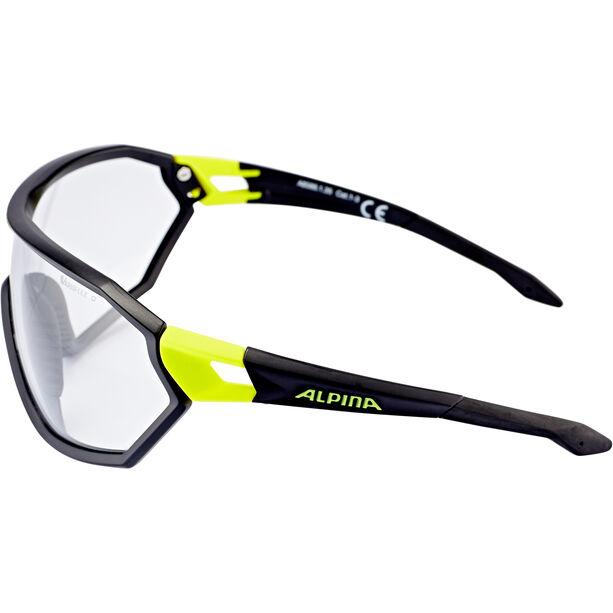 Alpina S-Way VL+ Glasses black matt-neon yellow