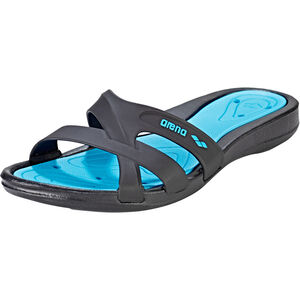 arena Athena Hook Sandals Damen black-turquoise