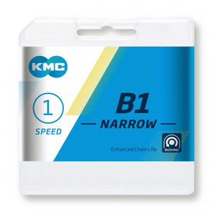 KMC B1 Narrow Kette 1-fach black black