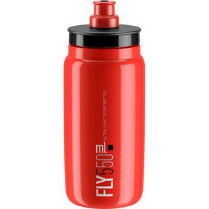 Elite Fly Trinkflasche 550ml rot/schwarzes logo